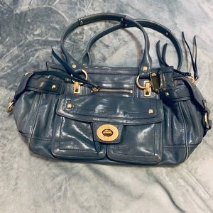 Coach Hampton Vintage Lindsey Blue Leather